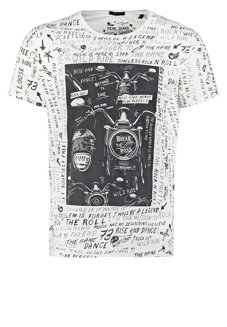 Pedir Pepe Jeans VELVET SLIM FIT - Camiseta print - off white por 24,45 € (11/06/16) en Zalando.es, con gastos de envío gratuitos.