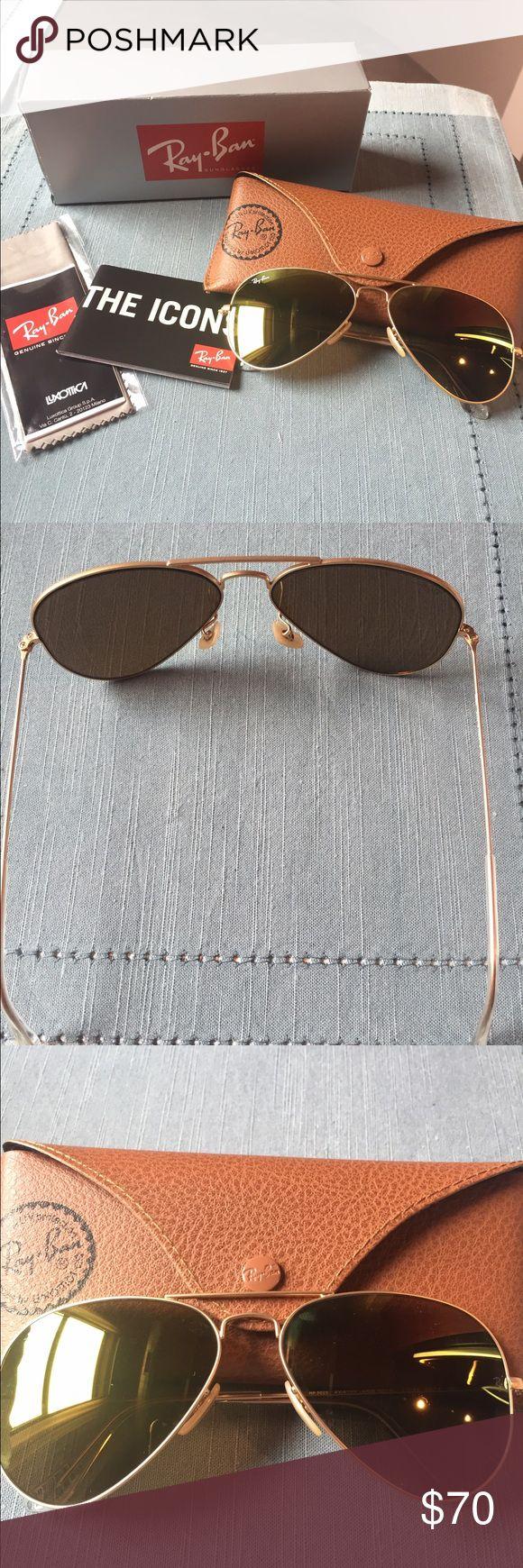 Ray Ban Women's aviator sunglasses Brand new never worn Ray Ban aviators in gold Ray-Ban Accessories Sunglasses