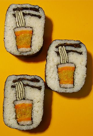 "Cup Noodles Art Sushi|カップ麺寿司: www says ""wow"" It may take several years before my version of this..."