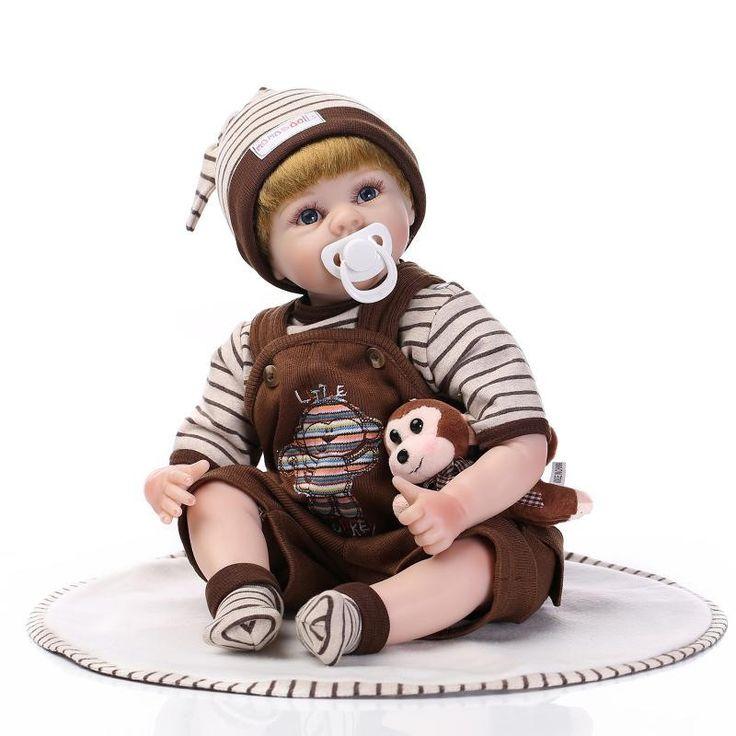 119.80$  Watch here - http://alis9u.worldwells.pw/go.php?t=32712894700 - Kids House Playmate Silicone Reborn Baby Dolls Cheap Reborn Baby Dolls For Adoption Soft Body Reborn Boy Babies Brinquedos