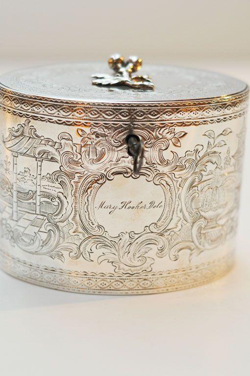 George III Sterling Silver Tea Caddy, 1777