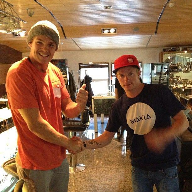 #Kimi yesterday with Pekka Hyysalo.