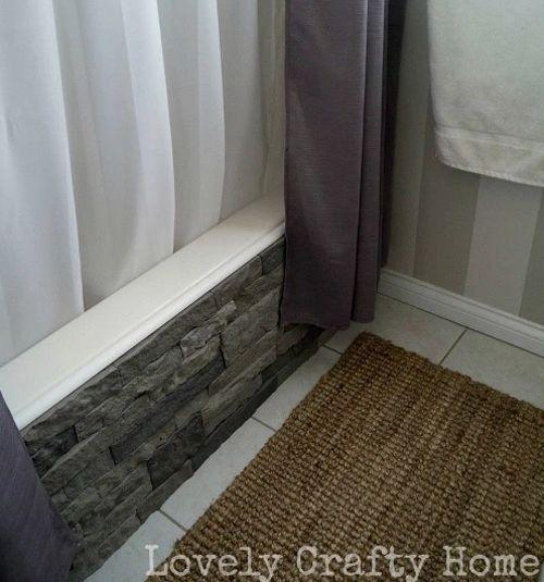 Refinishing the outside surface of a plain bathtub