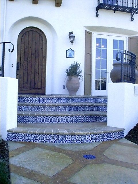 Decorative Spanish Tile Delectable 48 Best Front Entrance Stairs Images On Pinterest  Stairs Design Inspiration