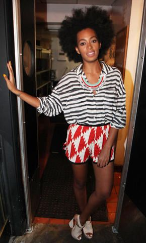 Solange Knowles mixes prints by Catherine