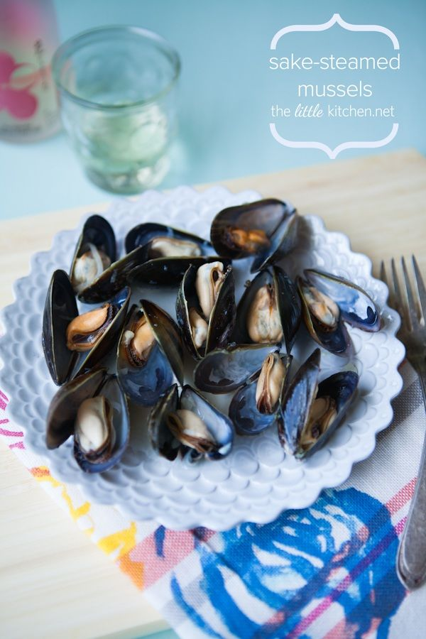 Sake-Steamed Mussels from The Little Kitchen