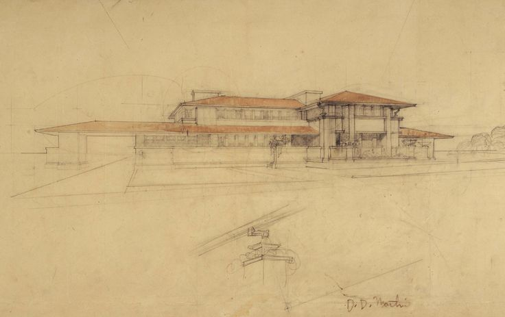 24 best images about prairie style drawings on pinterest for Frank lloyd wright blueprints houses