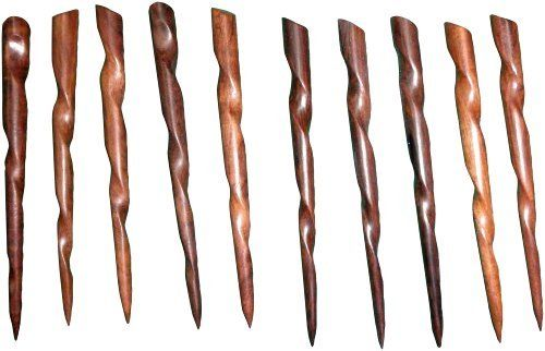 Rosewood Conical Hair Sticks