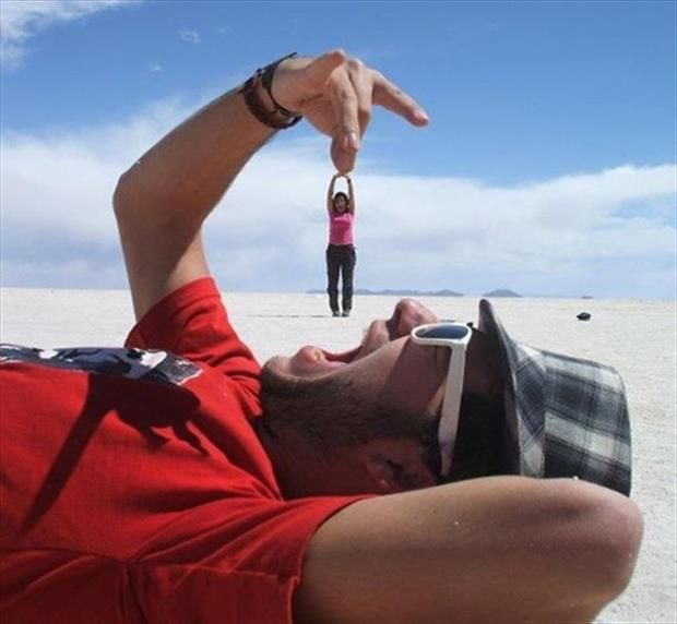 Optical illusions! #beach #summer #optometry