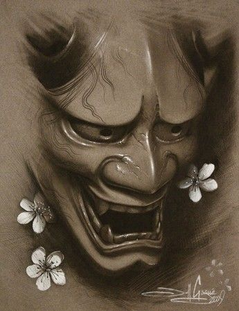 Hannya & Cherry Blossoms