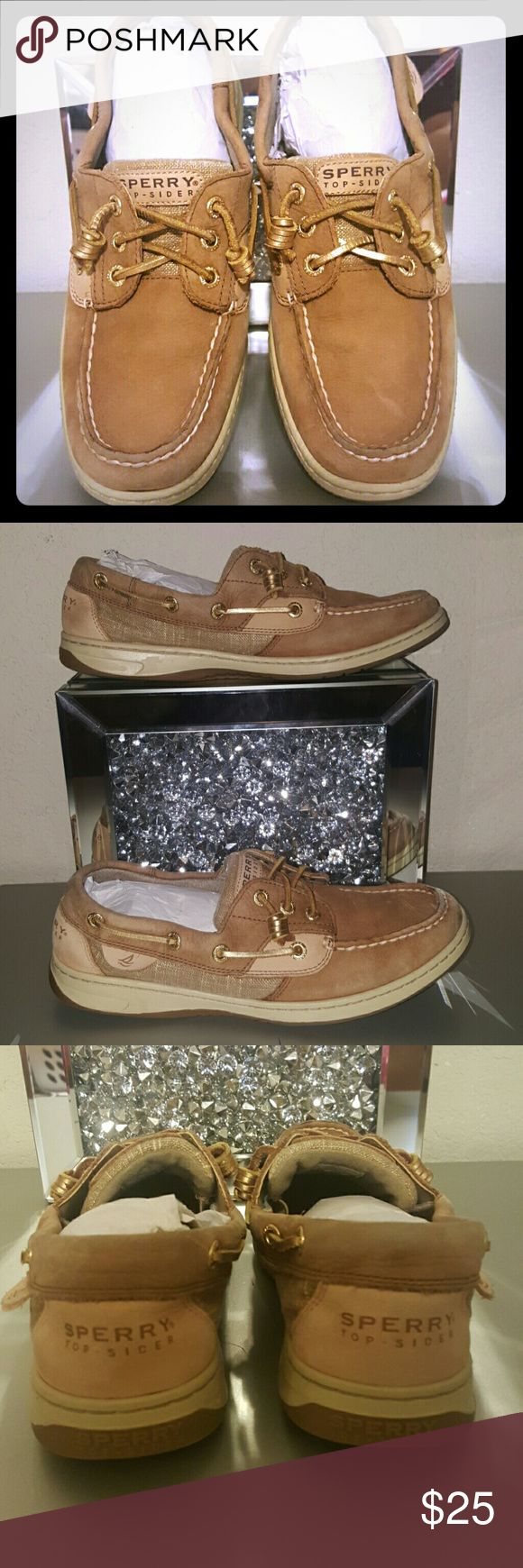 Sperry Top Siders Ladies loafers Sperry Top Siders Ladies boat shoes  Hint of gold and shimmer throughout make this a classic staple for any closet this summer. Sperry Shoes Flats & Loafers