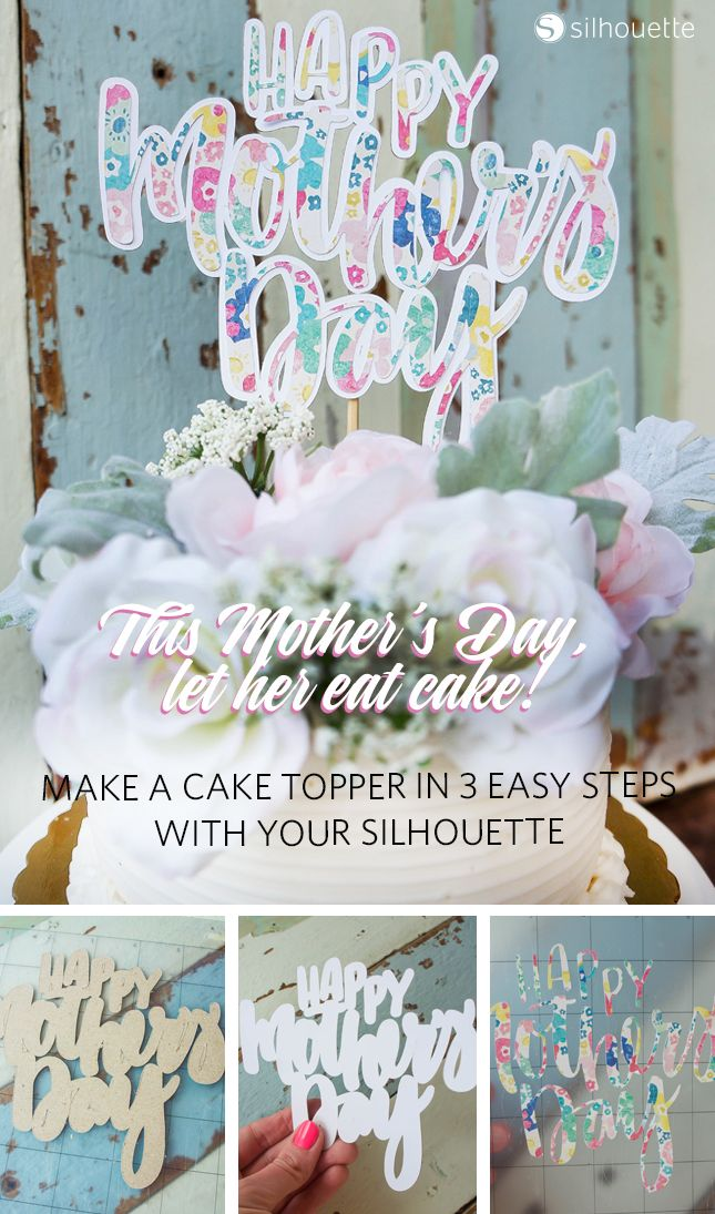 How To Make Cake Topper With Silhouette Curio