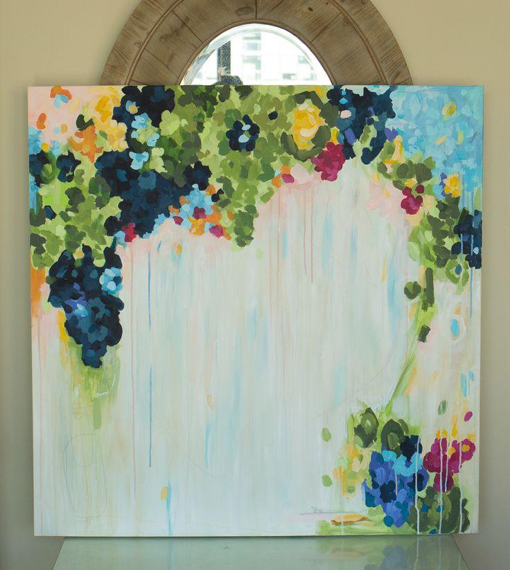 абстрактные акриловой живописи на холсте, оригинальные произведения искусства - с помощьюTheFoxandShe