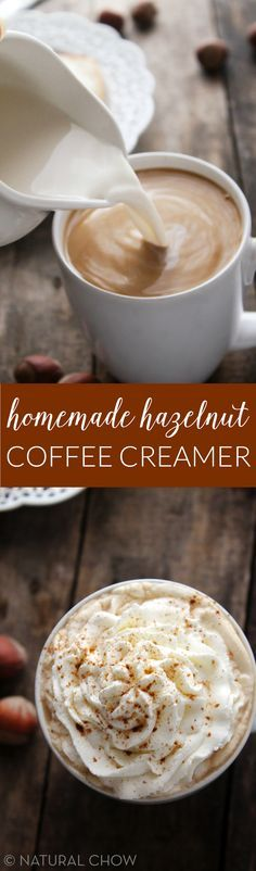Homemade Hazelnut Coffee Creamer | Natural Chow