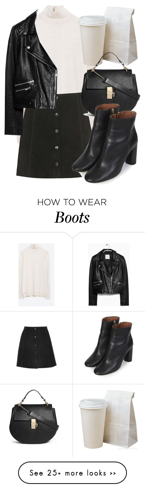 Untitled #4415 by laurenmboot on Polyvore featuring Zara, Topshop, MANGO and Chloé