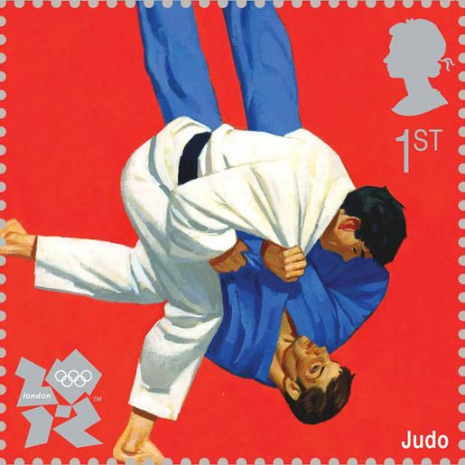 2012 Olympics judo stamp