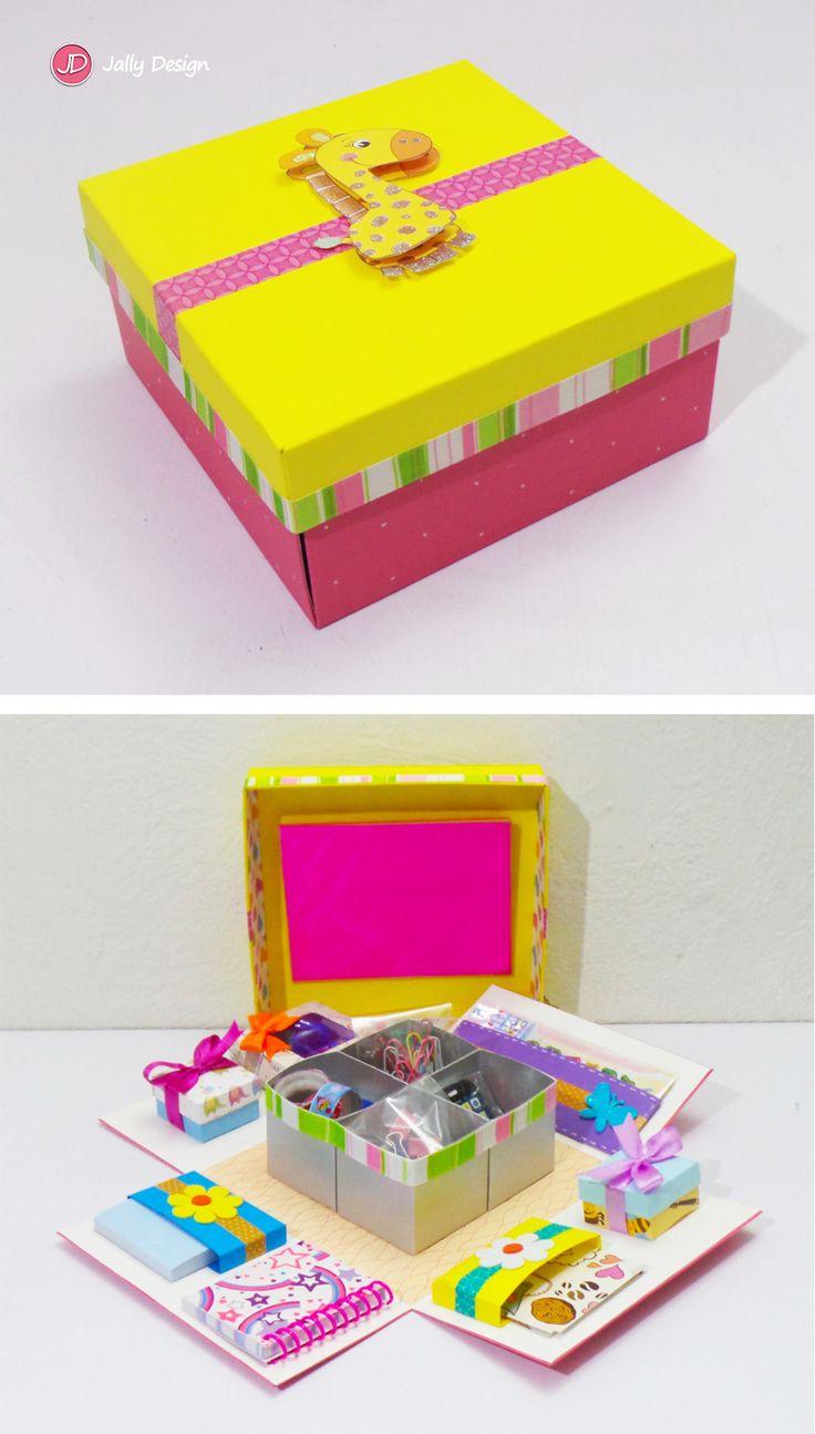 """Mini kit de papelería """"Jirafa"""""""