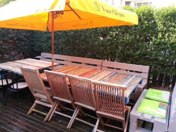 Masalar De Jardin / Paletler Bahçe Masası Palet Masaları ve Palet Masaları