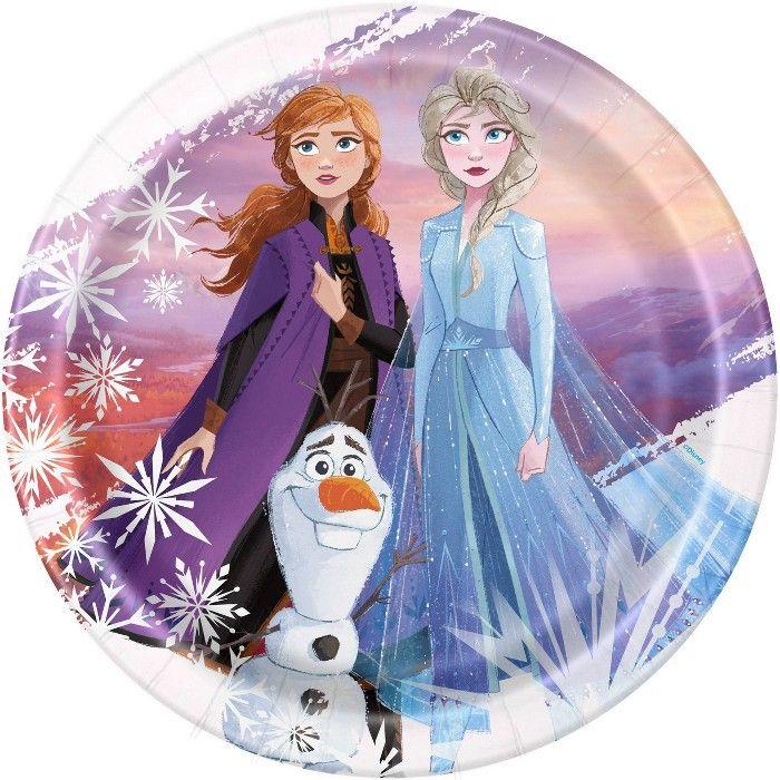 Frozen 2 8ct Dinner Plate Frozen Theme Party Frozen Birthday
