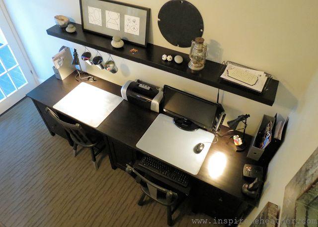 {stories of a house} Ikea Hemnes double desk hack | Inspire Me Heather
