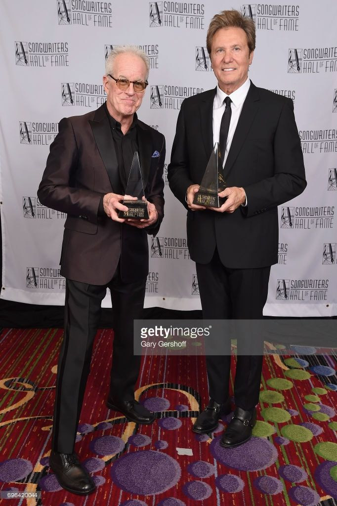 Inductees James Pankow and Robert Lamm pose with their awards backstage at the Songwriters Hall Of Fame 48th Annual Induction and Awards at New York Marriott Marquis Hotel on June 15, 2017 in New York City.
