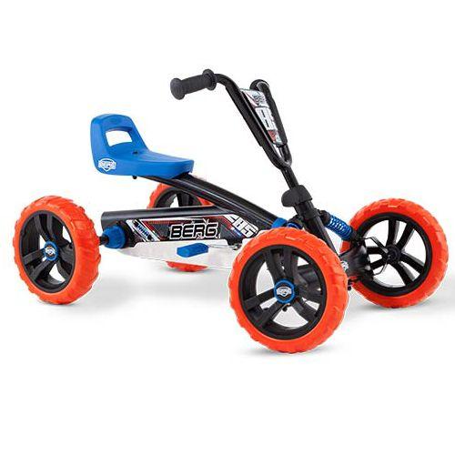 BERG Buzzy Nitro är den perfekta trampbilen för nybörjare och alla barn som gillar leka och motionera och upptäcka världen på egen hand. Trampbilen är lämpad för barn från 2 till 5 år. De fyra hjulen gör trampbilen superstabil och tack vare EVA-däcken får man aldrig punktering. Trampbilen är lätt och enkel att trampa. Det går också bra att trampa bakåt, vilket gör trampbilen mycket lättmanövrerad. Säte och ratt är justerbara så barnet kan växa med trampbilen.  Fakta Tysta EVA-däck som aldrig…