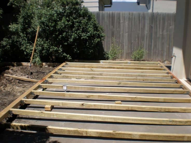 Deck Over Concrete For The Home Pinterest Decks