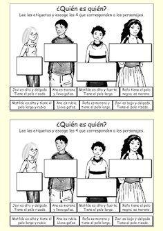 Me encanta escribir en español: interactivo ¿Quién es quién?