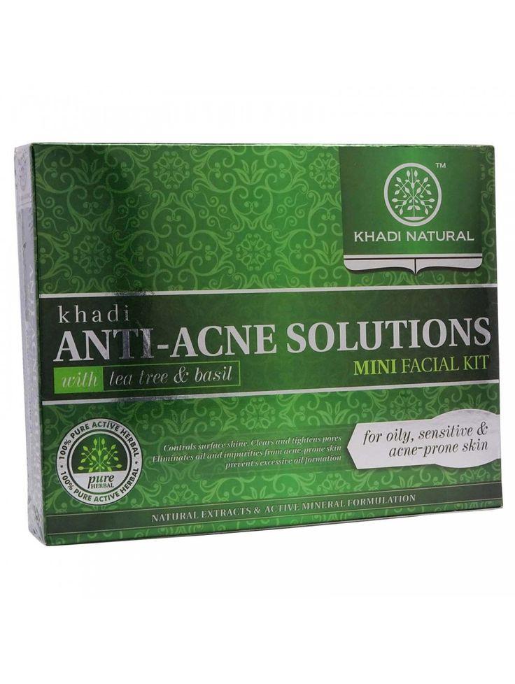 Khadi Anti-Acne Solutions With Tea Tree Basil Mini Facial Kit