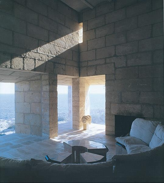 Can Lis. Utzon This house is so beautiful.... What I would do to spend a night there and wake up with that view!