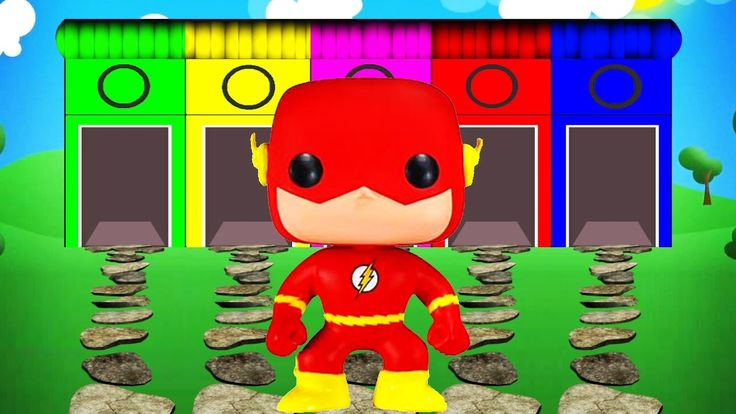 Learn Colors Superhero Flash Cartoon Videos with Color for Kids