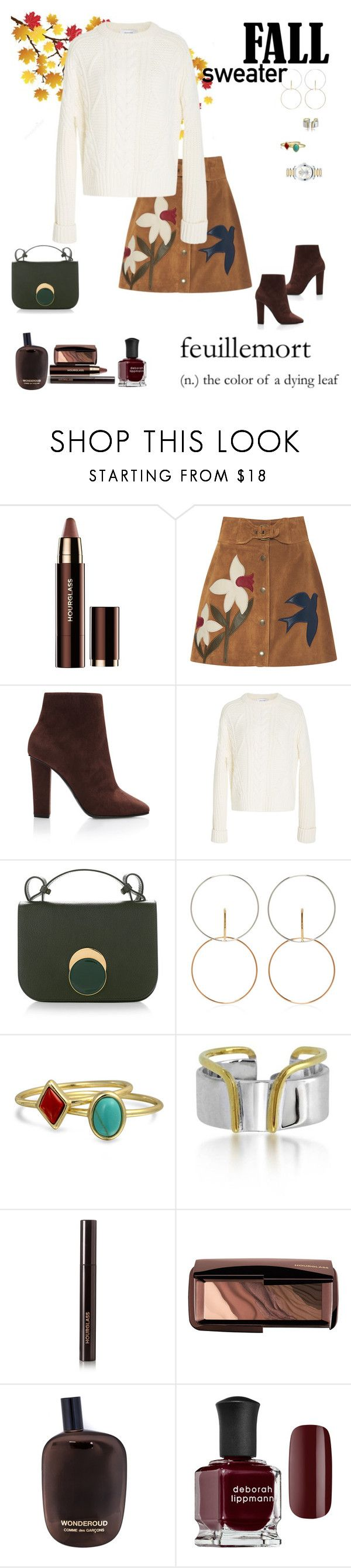 """Fall Sweaters!!🍁"" by sereneowl ❤ liked on Polyvore featuring Hourglass Cosmetics, RED Valentino, Giuseppe Zanotti, Carven, Marni, Charlotte Chesnais, Bling Jewelry, Maya Magal, Comme des Garçons and Deborah Lippmann"