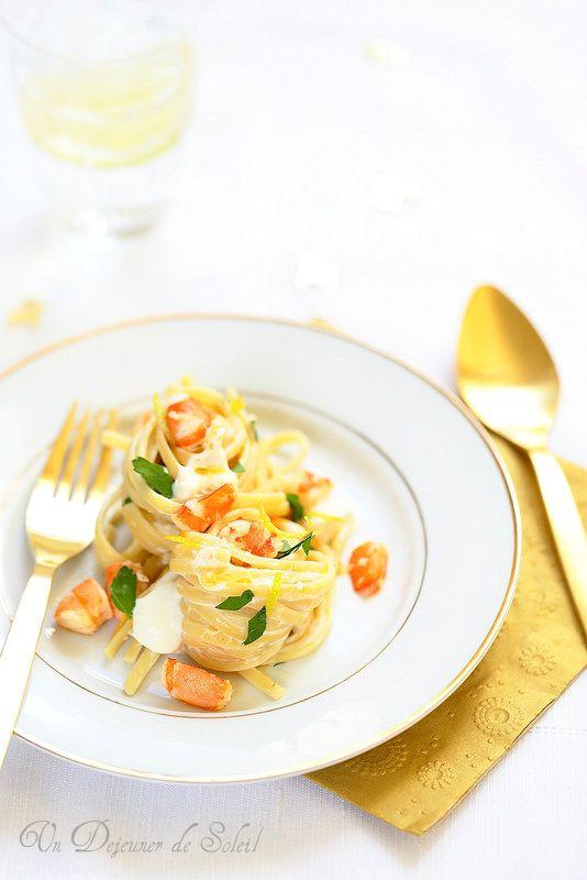 Un dejeuner de soleil: Linguine aux crevettes, mascarpone et citron