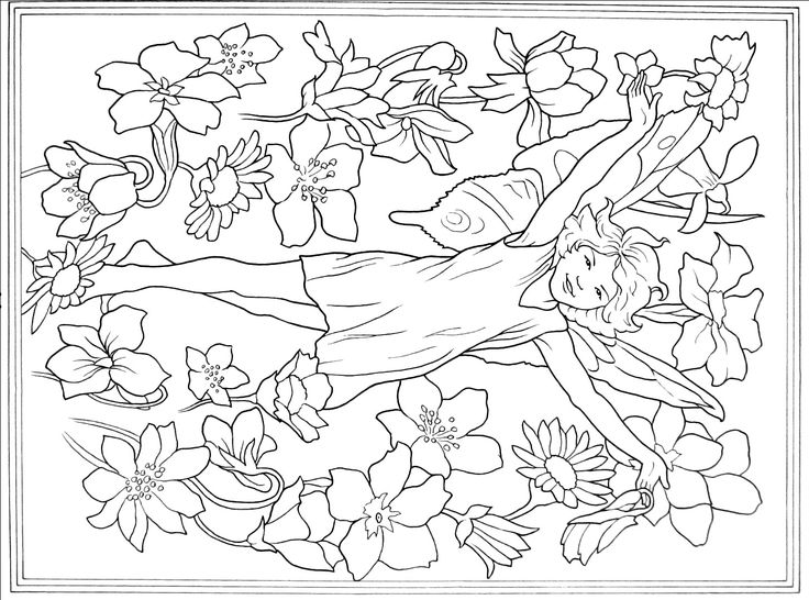 106 best Fairies Coloring Book Pages images on Pinterest | Coloring ...