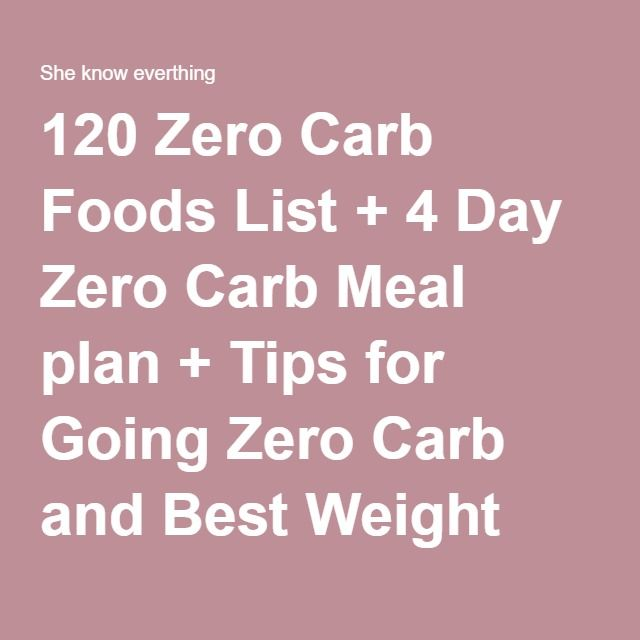 120 Zero Carb Foods List + 4 Day Zero Carb Meal plan + Tips for Going Zero Carb and Best Weight Loss Program | She know everthing
