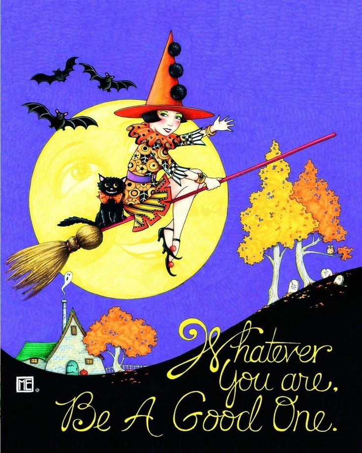 Whatever You Are, Be A Good One Quote Moon Fly Witch Halloween Black Cat  Broom Halloween Quotes