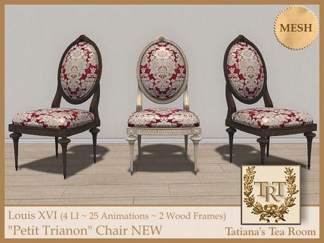 """Louis XVI """"Petit Trianon"""" Chair   #SecondLife"""