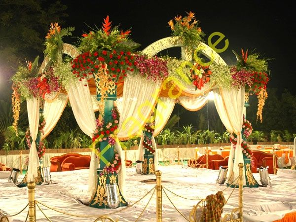 Wedding Services Mandaps Indian Decoration In Arch Mandap Natural