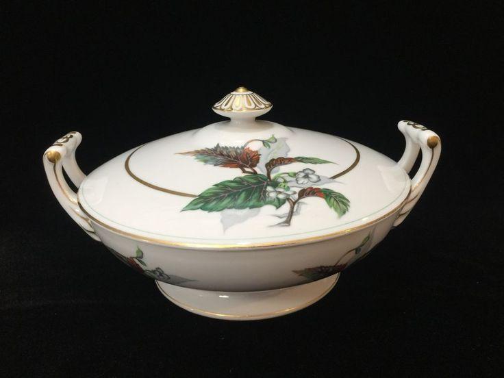 Vintage Imperial Craftsman Japan Porcelain Begonia Covered Casserole / Tureen #ImperialCraftsman
