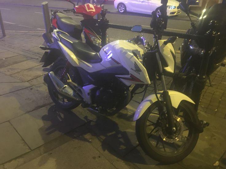 Honda Motorbike White colour