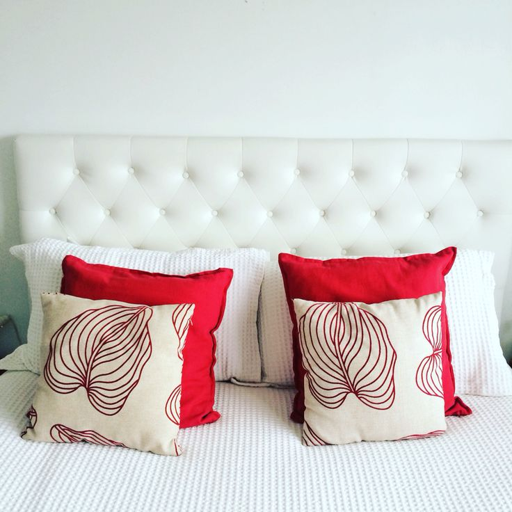Red & white romantic simple cushions xx