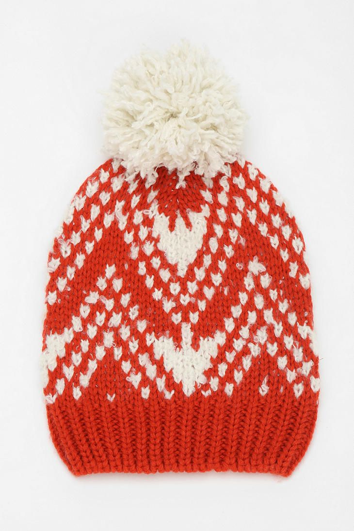 Slouchy PomPom Beanie - Urban Outfitters