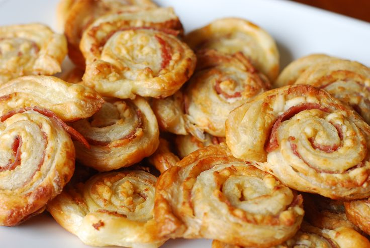 Salami Pinwheels - recipe makes about 50 pinwheels. Would be great for a large crowd.