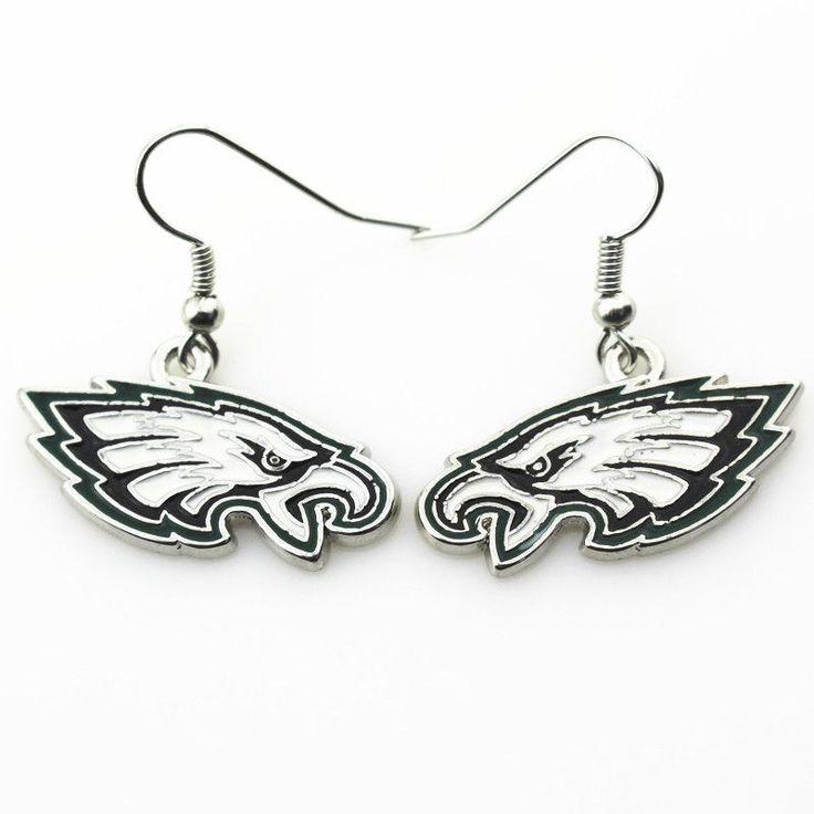 New arrive 6pair/lot Philadelphia Eagles NFL team sports earrings women erring USA football team jewelry