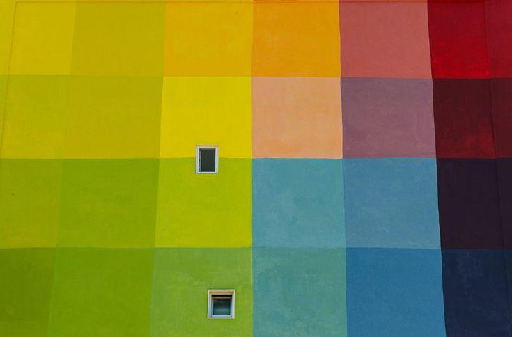 pigment workroom colorize social housing neighborhood in bari