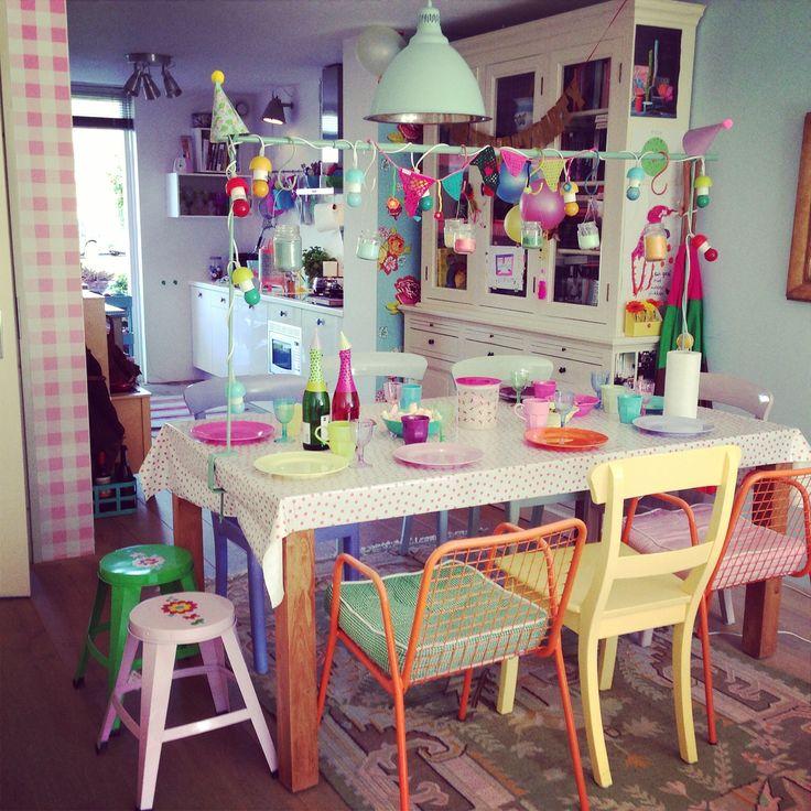 Vrolijke tafel voor een feest...