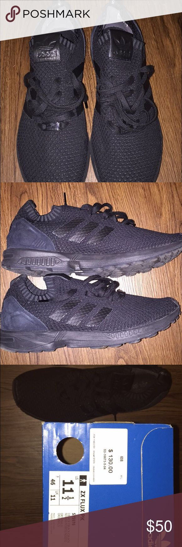 Adidas zx flux pk All black zx flux pk. Condition 9.5/10 Adidas Shoes Athletic Shoes