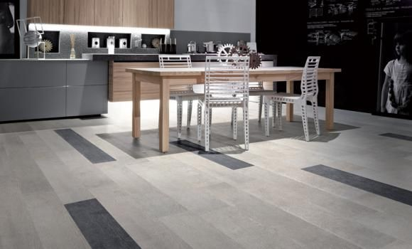 Timber Look Porcelain Tile - Grey & Black