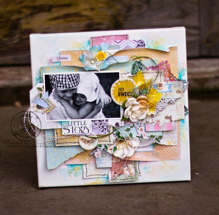 Sunshine Studio: New canvases/Многослойный холст - примеры нового мастер-класса