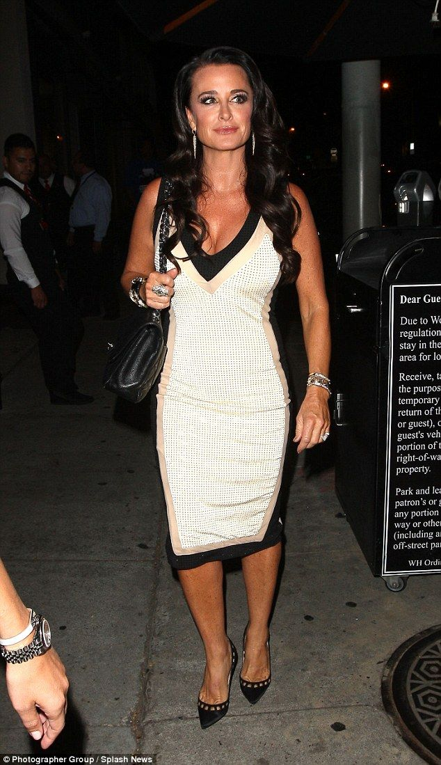 Glam: Kyle Richards, 46, stepped out with her husband Mauricio Umansky for a date night at...